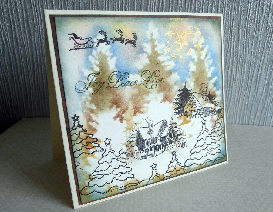 Zimowa kartka - Kartka z boku