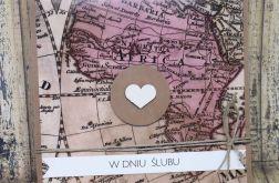 Ślubna kartka dla podróżników-mapa 5