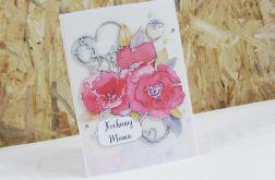 Kochanej Mamie - kartka z makami