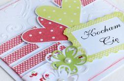 Kartka Walentynkowa serducha KW031