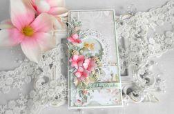 Ślubna kartka DL w pudełku 90