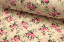 Tkanina bawełna- drobne różyczki