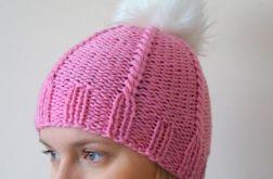Zimowa czapka różowa