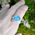Zatopek pierścionek błękitne niezapominajki - 2