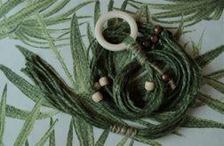 Unikatowy kwietnik makrama juta zielony naturalny boho