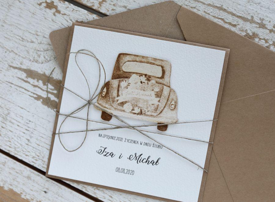 Kartka ślubna z kopertą - życzenia i personalizacja 1g