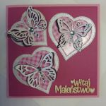 Kartka - Witaj Maleństwo (z motylkami)