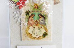 Kartka Świąteczna - tradycyjna z szopką002