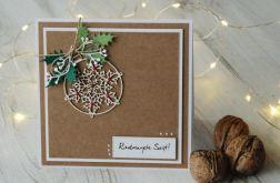 Kartka świąteczna Boże Narodzenie Bombka