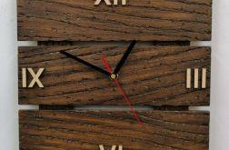 Zegar ścienny drewniany tablica c. arabskie