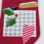 Skarpeta z motywem świątecznym