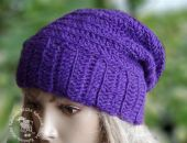 czapka   degra fioletowa