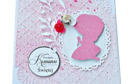 Kartka Pamiątka Komunii Św. dla dziewczynki