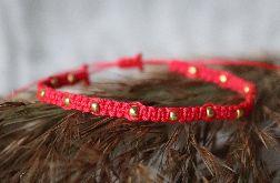 Relva czerwona bransoletka z kuleczkami