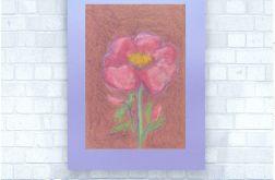 Rysunek kwiat na fioletowym tle nr 8