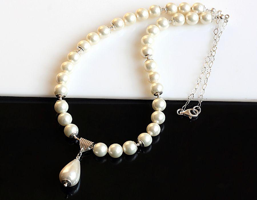 Naszyjnik z pereł Seashell