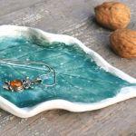 Ceramiczny liść, talerzyk (c15) -