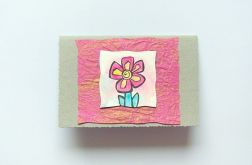 kartka malowana -kwiatuszek