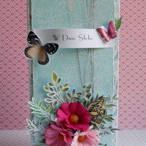 Kartka ślubna wiosenna