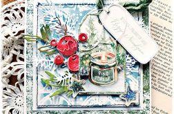 Świeczka - kartka bożonarodzeniowa