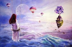 """""""Zanim zasnę"""" surrealistyczny obraz"""