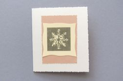 Ręcznie robiona kartka  płatek śniegu 36