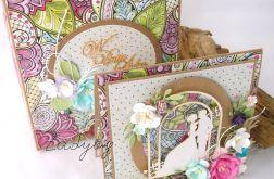 Witrażowy ślub - kartka w pudełku