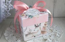 Exploding box różowy, chrzest