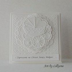 Zaproszenie na Chrzest w bieli