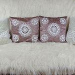 Poszewka szydełkowa dekoracyjna - poduszka ręcznie robiona