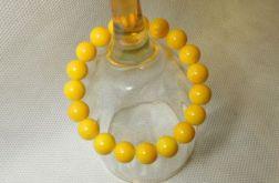 9.Bransoletka ze szklanych koralików 10mm