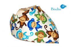 Apaszka, bandama, chustka Małpki + Bawełna Ecry w Kropki