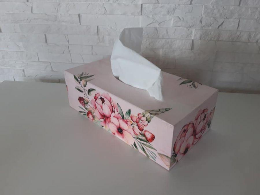 Chustecznik prostokątny kwiaty