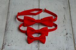 Komplet czerwony - Mama, tata i syn