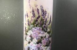 Świeca ręcznie malowana lawenda z werbeną
