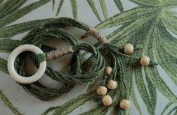 kwietnik makrama sznurek jutowy zielony koraliki boho