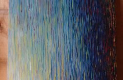 Malarstwo abstrakcyjne obraz olejny woda