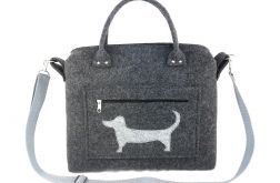 Anthracite chest & dog on pocket
