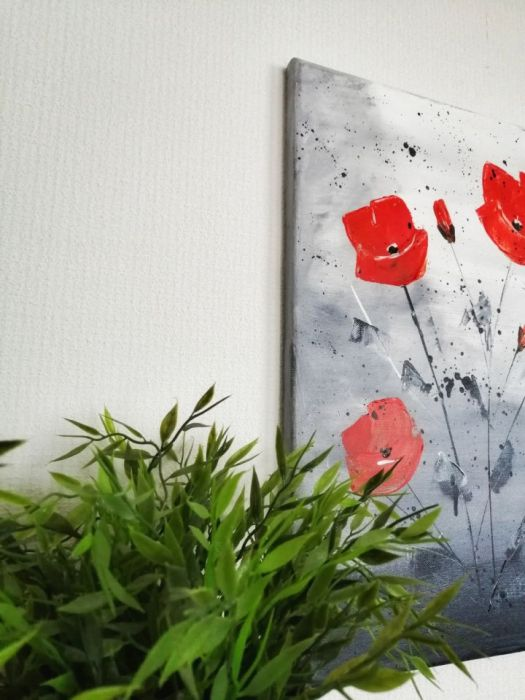 Obraz akrylowy maki abstrakcja (Ao06)