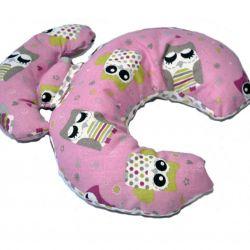 poduszka podróżna rogal pink OWL