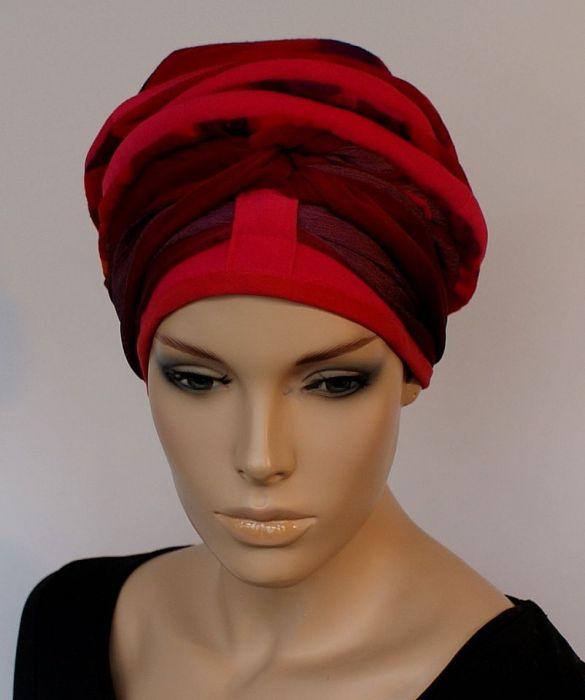 lekki turban SOCZYSTY - szarfa zamotana wokół głowy