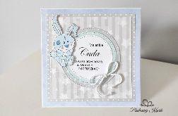Kartka na narodziny roczek króliczek Maleńkie cuda