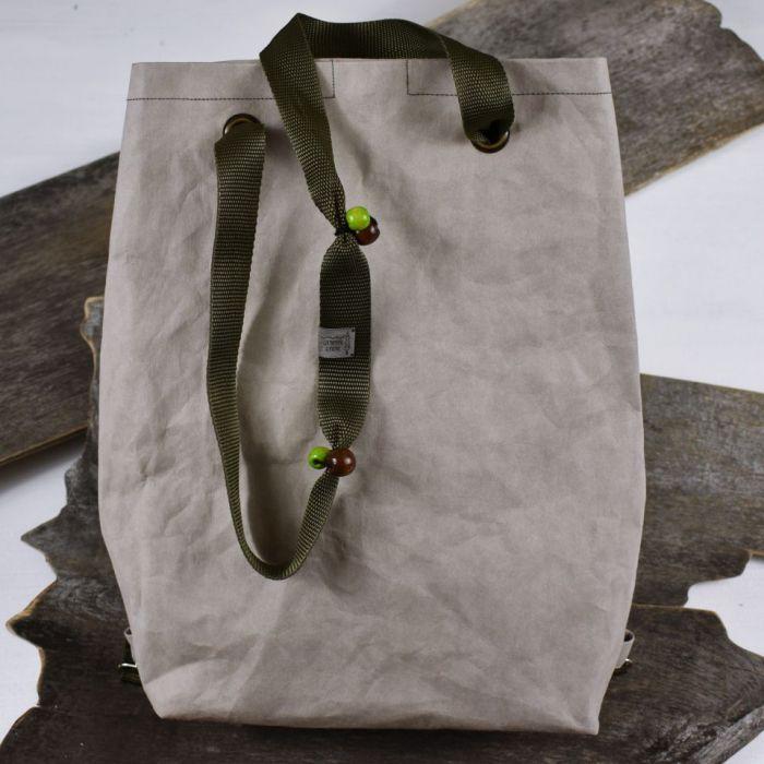 Plecak / Torba. Szaro-Zielony. Z washpapy