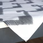 Serweta czarno biała - Zygzak 50 x 50 cm