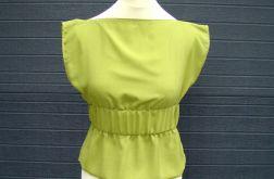 bluzka szyfonowa zielona