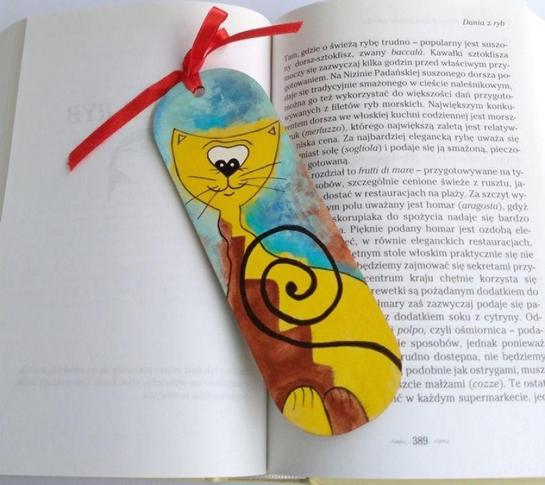 Koty zakładka do książki