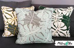 Komplet dekoracyjnych poduszek ~ Monstera