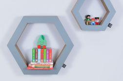 Półka na książki zabawki HEXAGON | szary