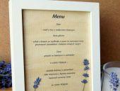 Oryginalne menu w ramce