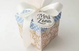 Pudełko na ślub Błękit i Beż